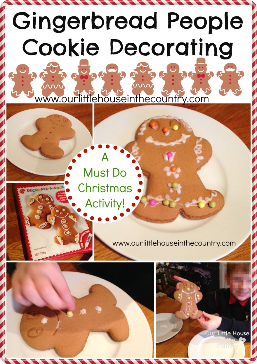 Gingerbread People Cookie Decorating - A Must Do Christmas Activity - Our Little House in the Country