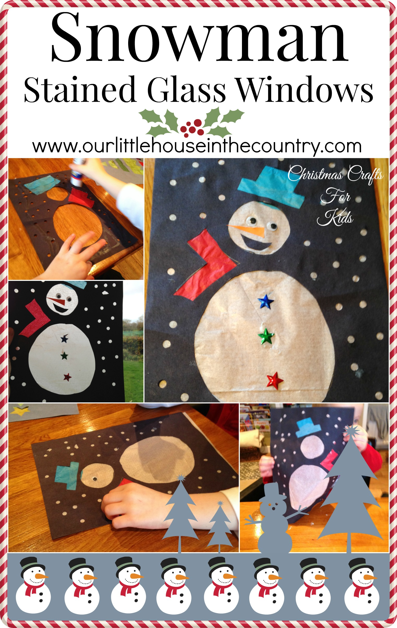 Christmas Crafts Snowman Stained Glass Windows Our Little House In The Country