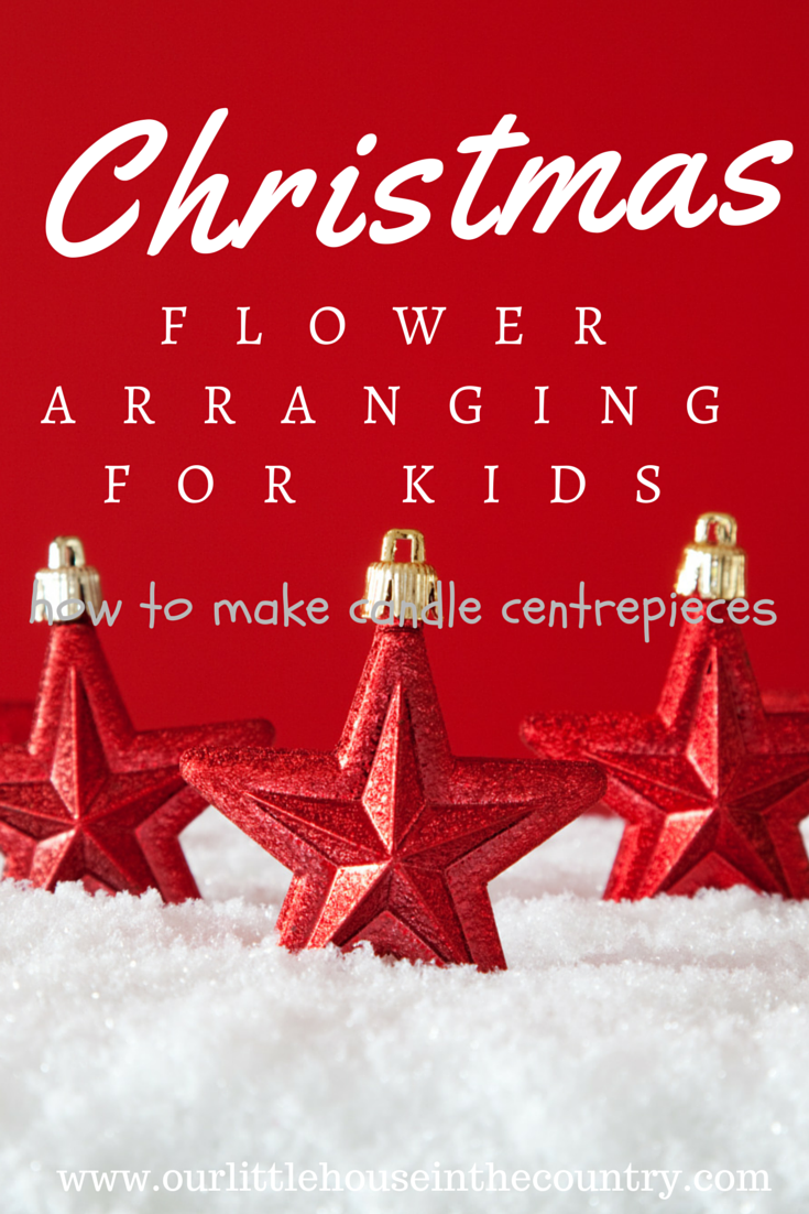 Christmas Candle Flower Arranging For Kids