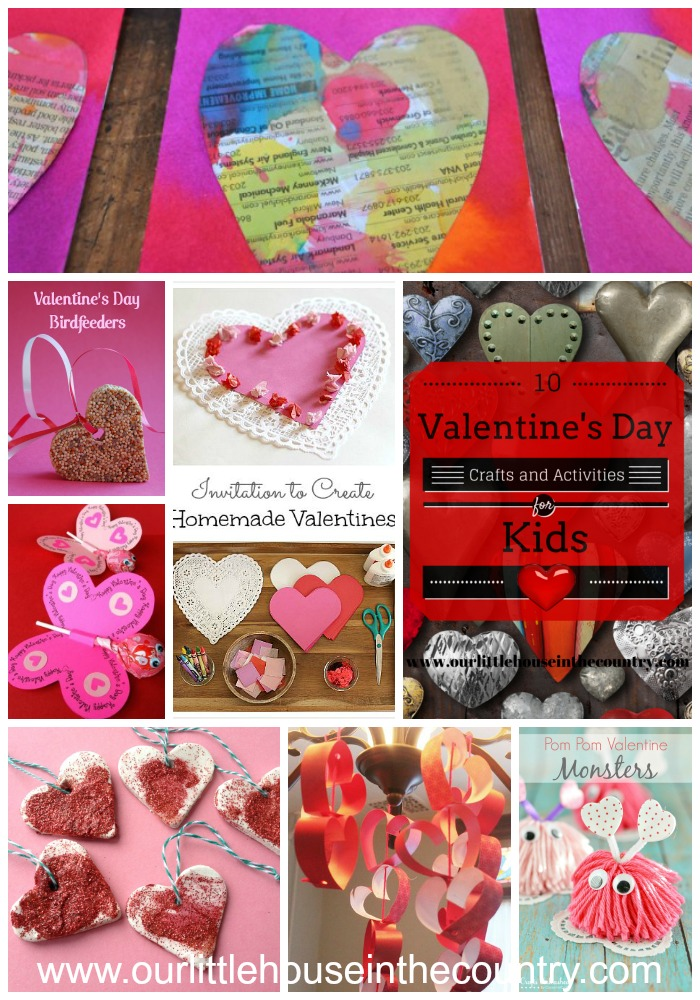 10 Valentine's Day Activities and Crafts for Kids - Our Little House in the Country