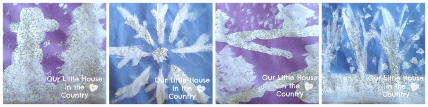 Sparkly Winter Art Project Inspired by Jack Frost by Kazuno Kohara - Our Little House in the Country 1