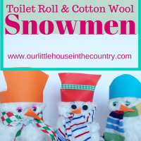 Toilet Rolls and Cotton Wool Snowmen - A Preschool Winter Craft