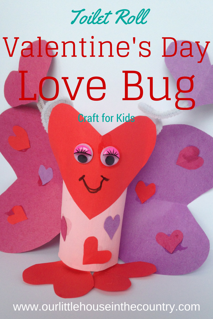 Lola the toilet roll love bug butterfly valentine s craft for Toilet roll art for kids
