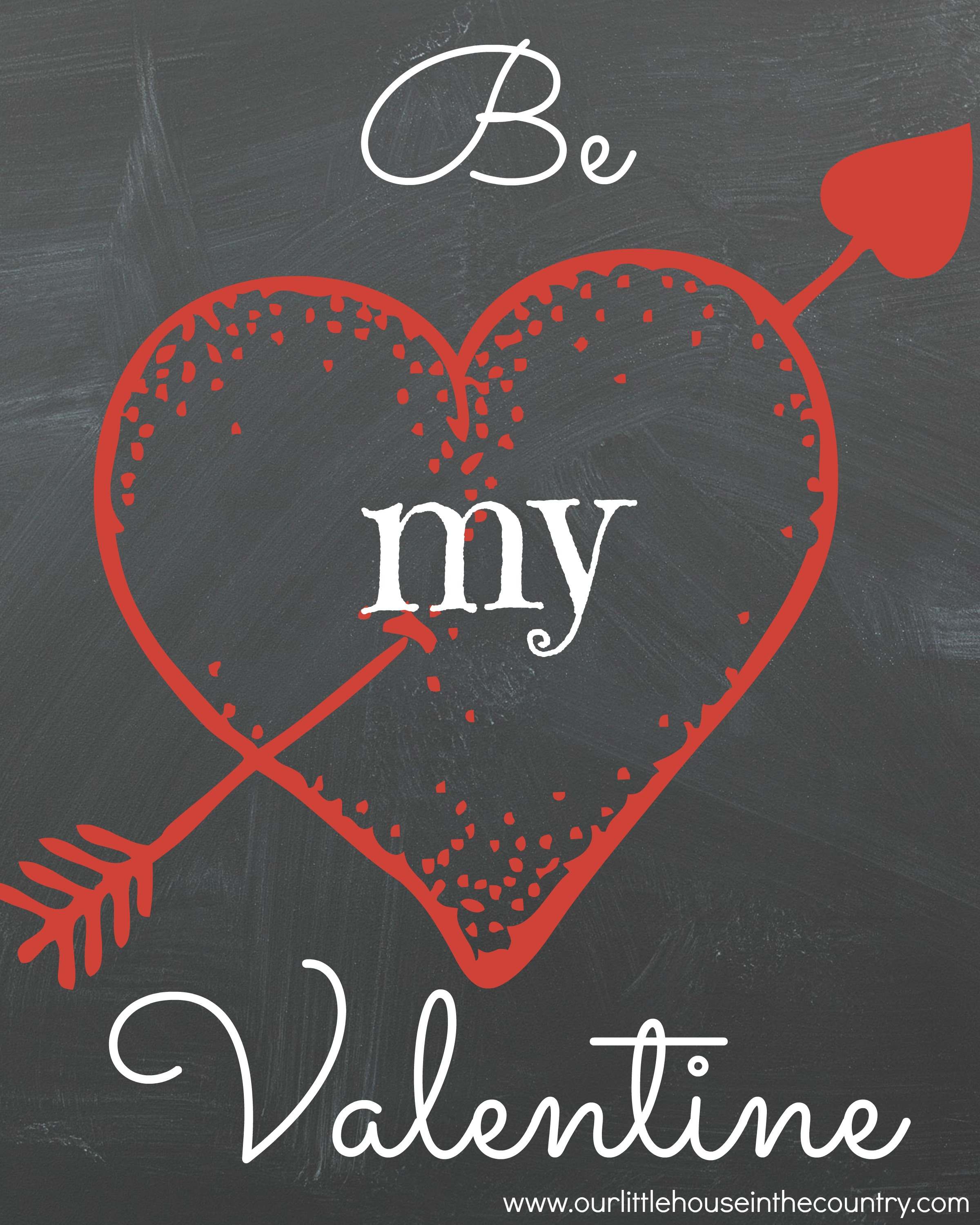 Free Valentine's Day Printables | Our Little House in the ... Free Printable Valentine's Day Decorations