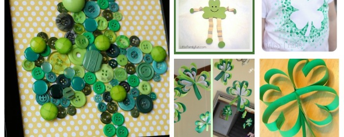 10 Shamrock Crafts - St Patrick's Day Activities for Kids - Our Little House in the Country
