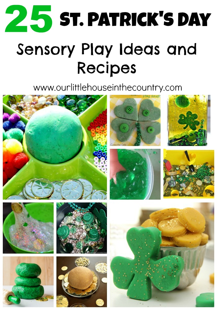 25 St Patrick's Day Sensory Play Ideas and Recipes - Our Little House in the Country