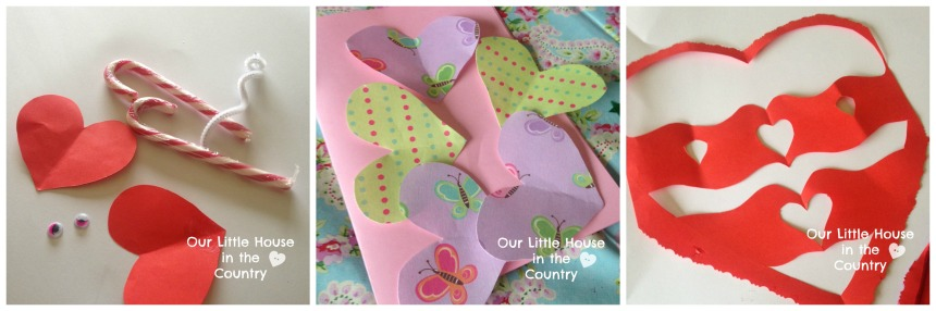 8 Valentine's Day Crafts for Younger Kids - includes step by step instructions - Our Little House in the Country 1