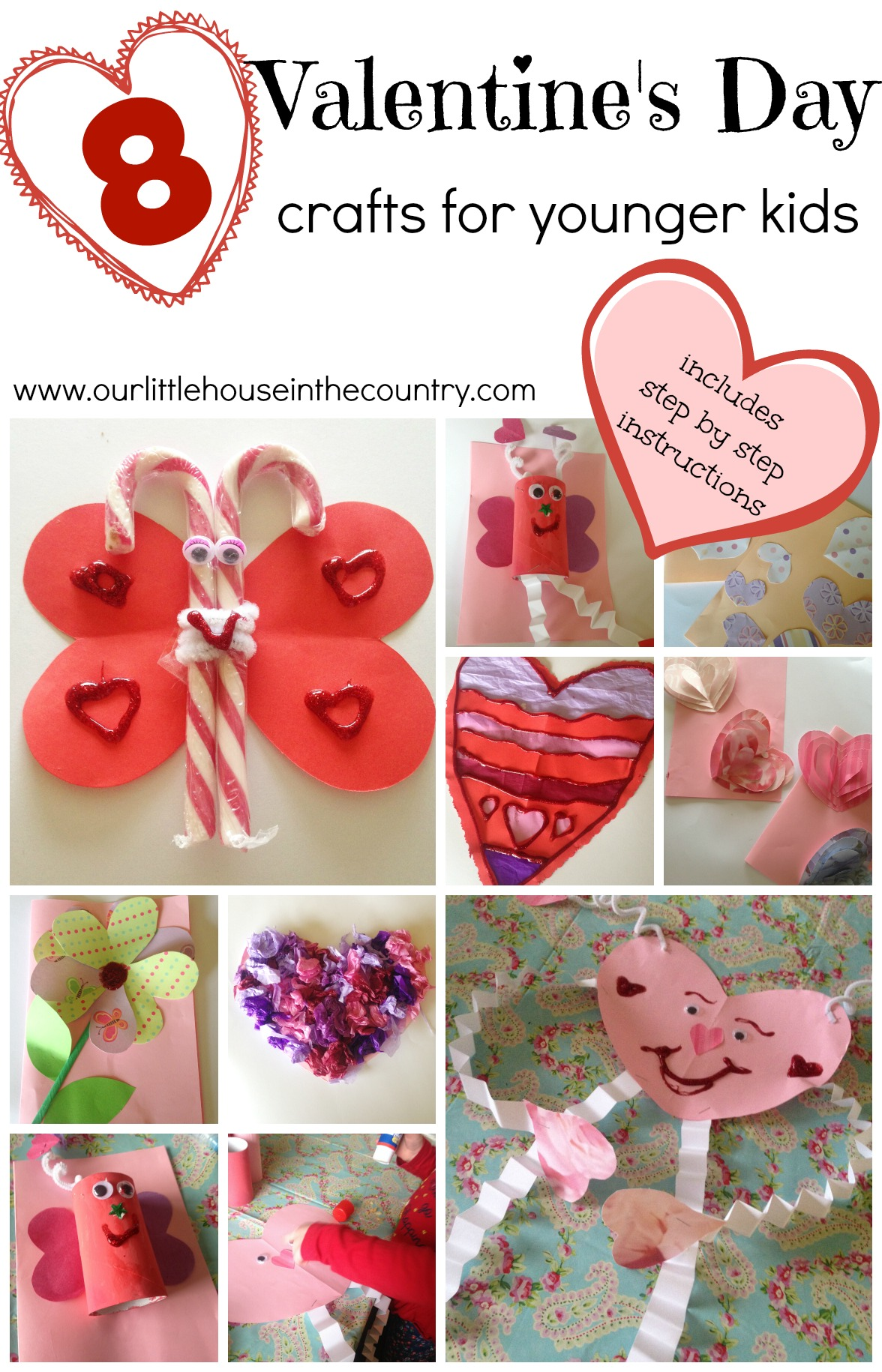 Valentine s day crafts for younger children preschool and for Valentines crafts for kindergarten