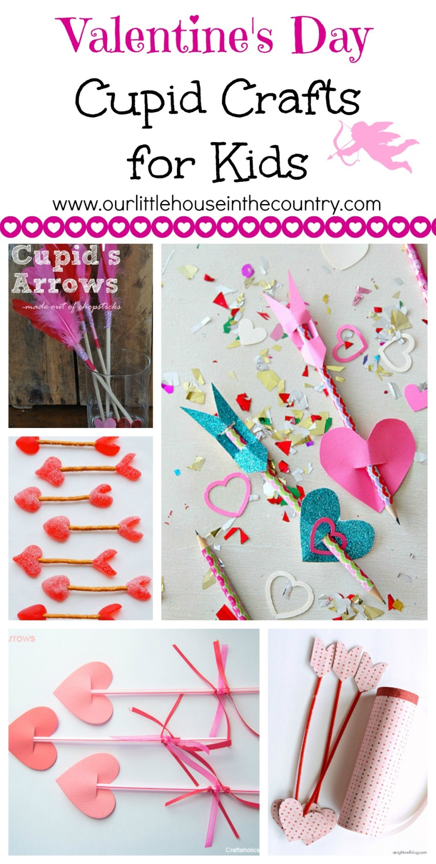 Valentine's Day Cupid Crafts for Kids - Our Little House in the Country