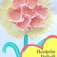 Handprint Daffodil Mother's Day Card