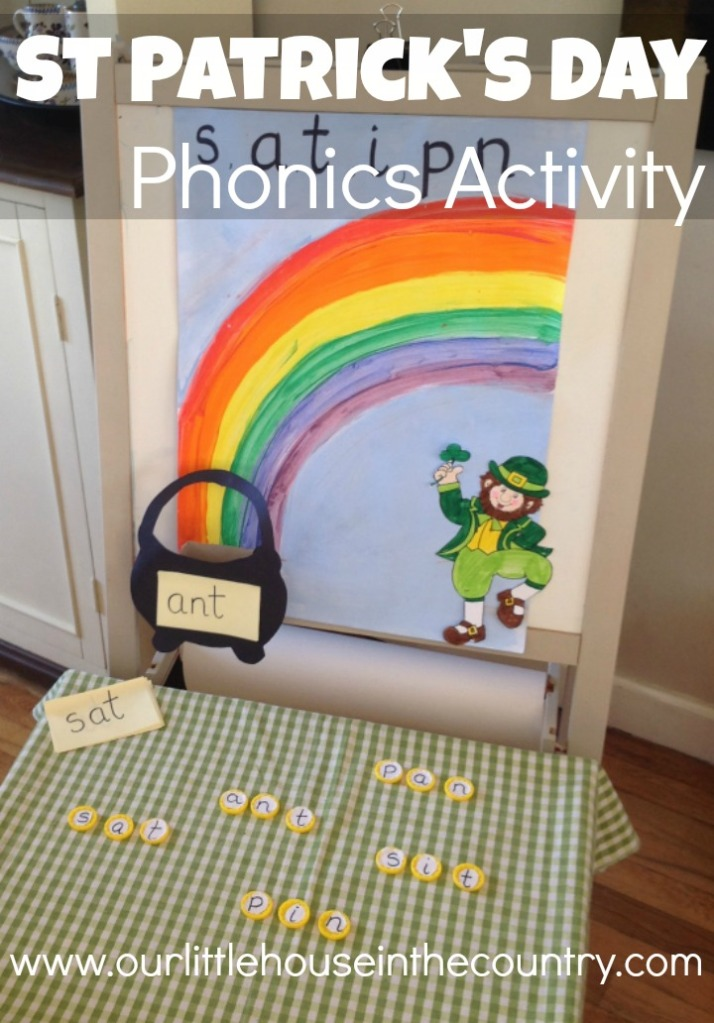 Simple St Patrick's Day Phonics Activity - Our Little House in the Country