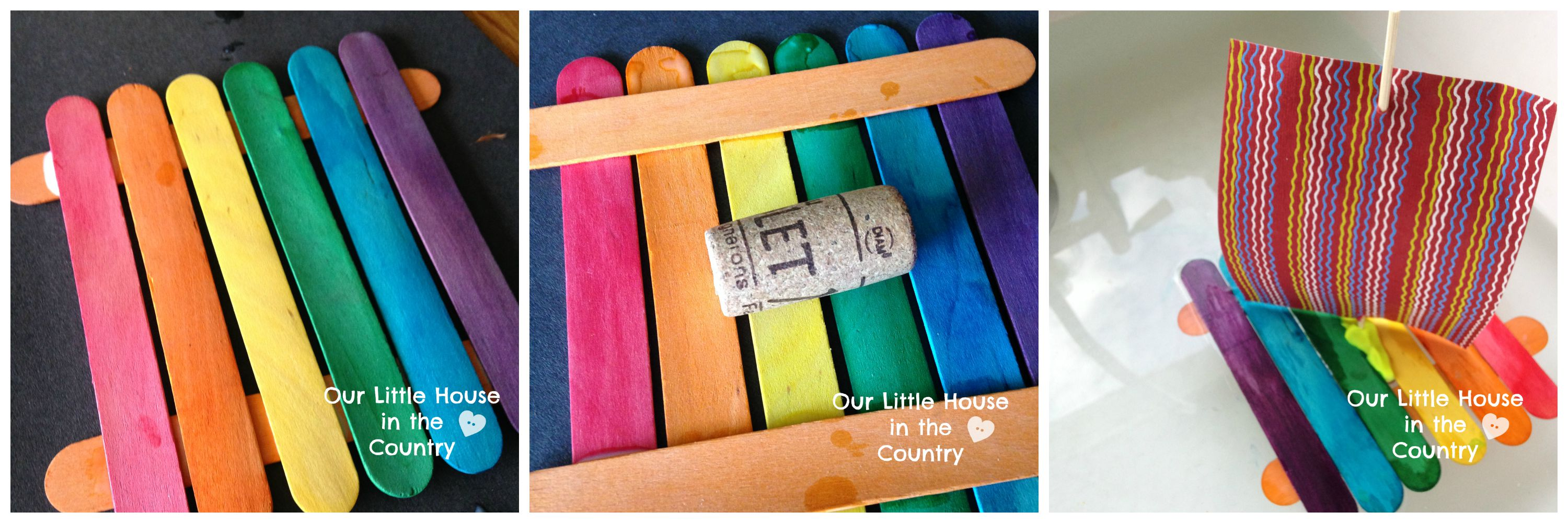 Ice Lolly Sticks Rafts Simple Wine Cork Crafts For Kids Our
