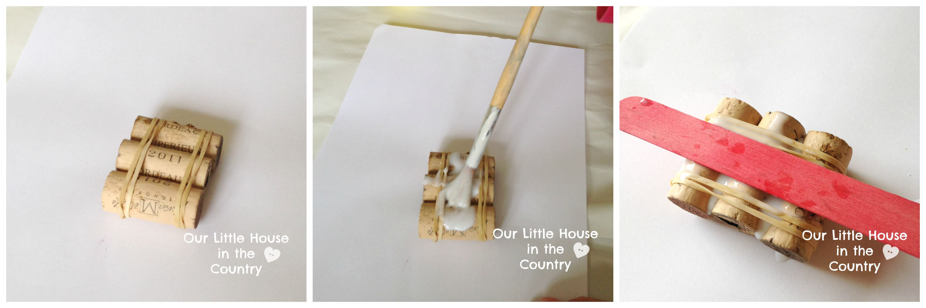 Matchstick art for kids the image kid for Simple cork