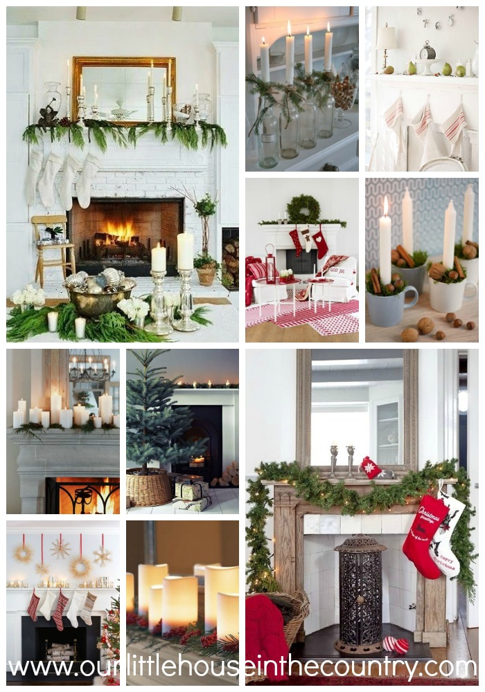 10 Beautifully Simple but Stylish Decorating Ideas for Your Mantle at Christmas - Our Little House in the Country