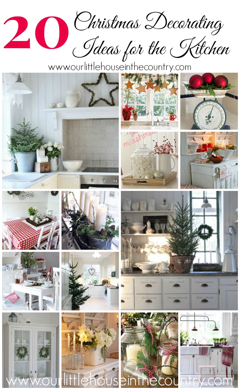 20 christmas decorating ideas for the kitchen our little for Christmas decorating ideas for your kitchen