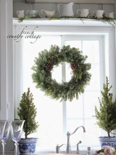 Christmas Decorating Ideas for the Kitchen - Our Little House in the Country 18
