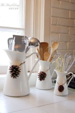 Christmas Decorating Ideas for the Kitchen - Our Little House in the Country