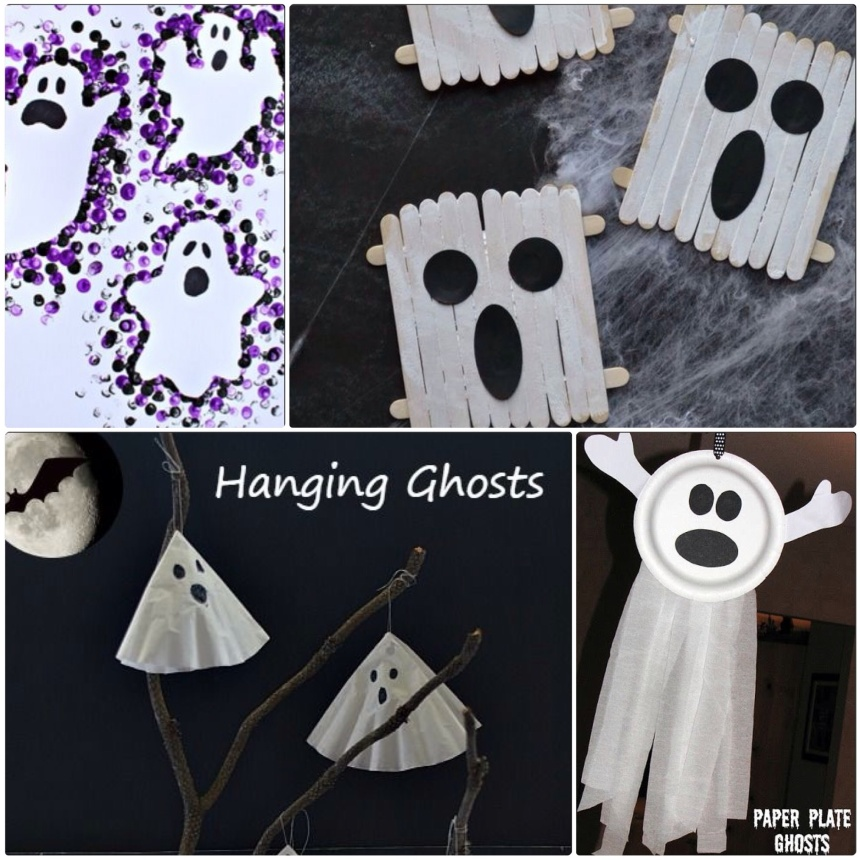 Ghost a Crafts for Kids to Make at a Halloween - Our Little House in the Country