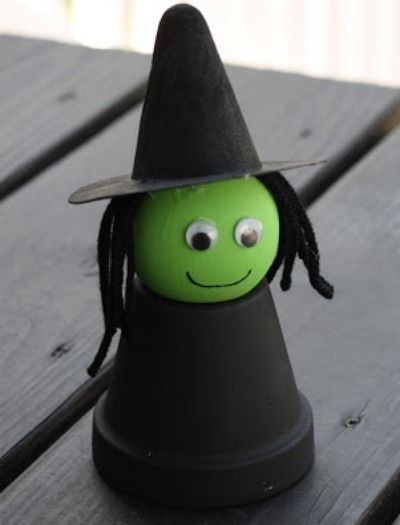 Witch Crafts for a Kids - More Halloween Fun - Our Little House in the Country