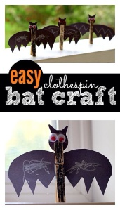 Bat Themed Crafts for Kids - Halloween Fun - Our Little house in the Country