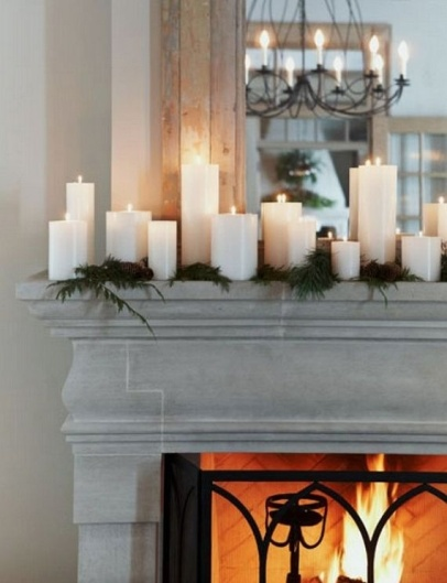 10 Simple but Stylish Ways to Decorate your Mantle for Christmas - Our Little House in the Country